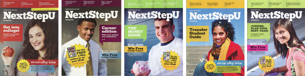2010-2011 NextStep U Cover Models Provided by Mary Therese Friel, LLC: Tess Gilmore, Eddie Williams, Michael Edward Scaccia, Simone Boone & Jayde Ahearn.